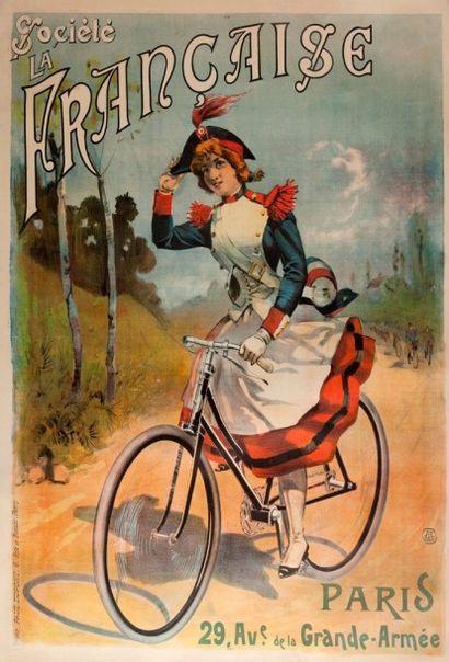 Affiche société la française cycles signée...