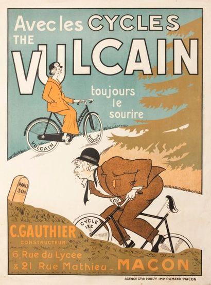 Deux affiches Cycles Vulcain