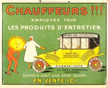 Affiche Glacoide Chauffeur