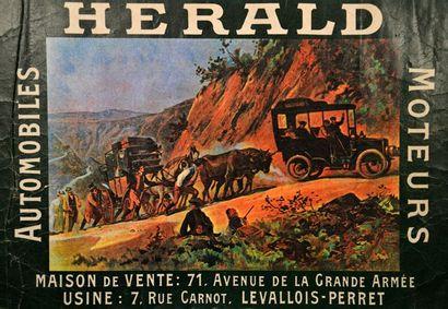Affiche Herald Automobiles Moteurs Imp. Champenois....