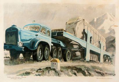 Tableau transport de pierres par Geo Ham