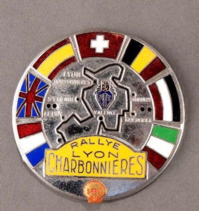 Badge rallye automobile Lyon Charbonnières...