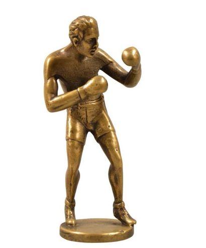 Mascotte automobile «Boxeur» Sujet en bronze...