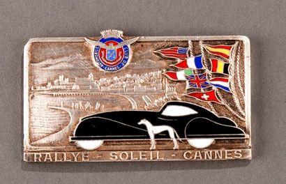 Badge rallye automobile Soleil Cannes Parfait...