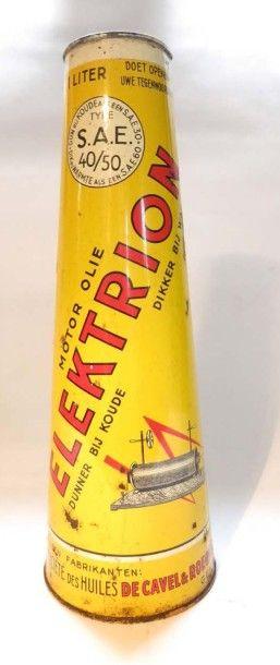Bidon d'huile conique Electrion avec son...