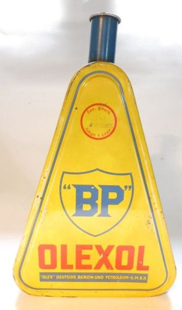 Bidon d'huile triangulaire BP Olexol sans...