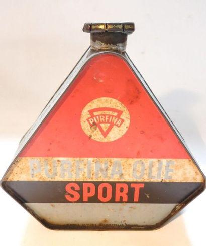 Bidon d'huile triangulaire Purfina Sport...
