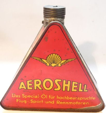 Bidon d'huile triangulaire Aeroshell avec...