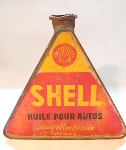 Bidon d'huile triangulaire Shell Huile pour...