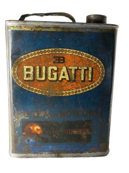 Exceptionnel bidon d'huile Bugatti de 1930,...
