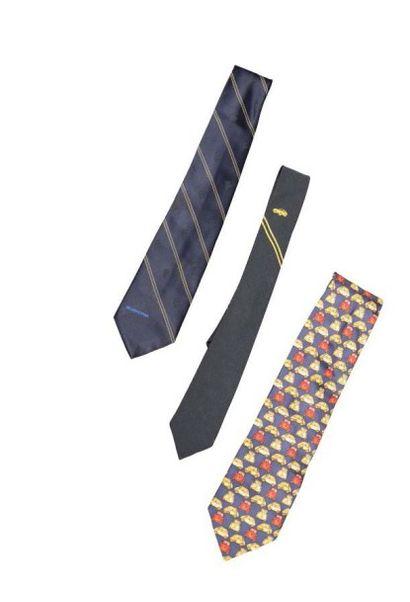 Lot de 3 cravates en soie: BMW, Michelin...
