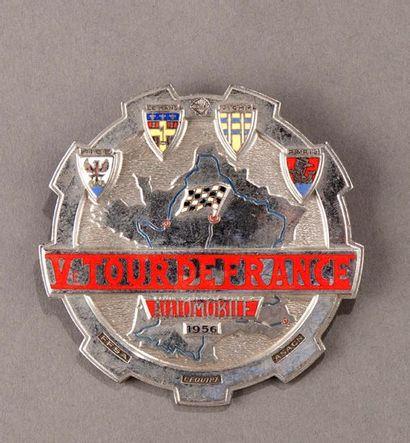 Badge rallye Tour de France Automobile 1956 Parfait état
