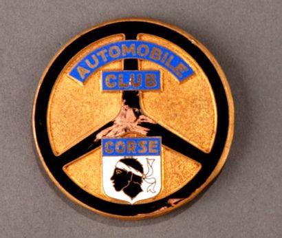 Badge calandre Automobile Club de Corse Accident d'émail