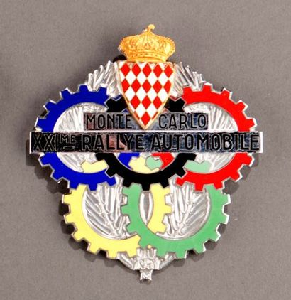 Badge rallye automobile Montecarlo 1951 Parfait...