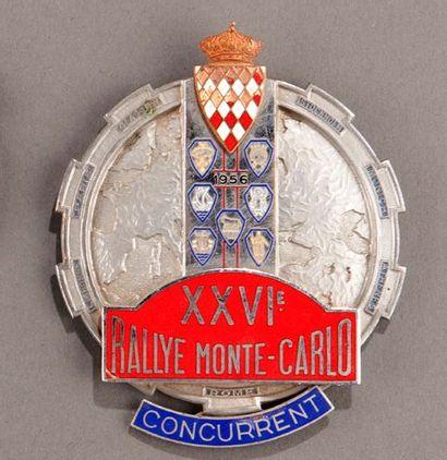 Badge rallye automobile Montecarlo 1958 Parfait...