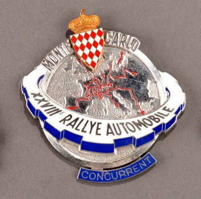 Badge rallye automobile Montecarlo 1959 Parfait...