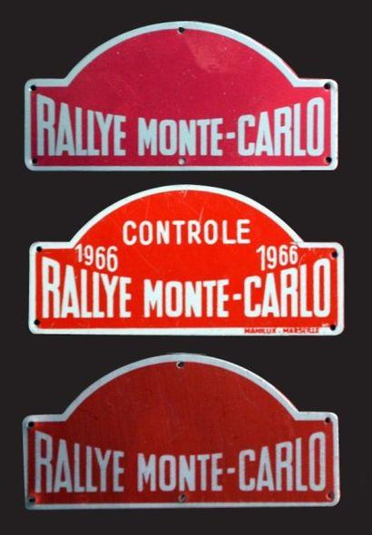 Lot de 3 plaquettes du Rallye Monte Carlo...