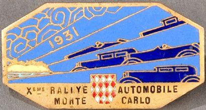 Epinglette 10ème Rallye Automobile Monte...