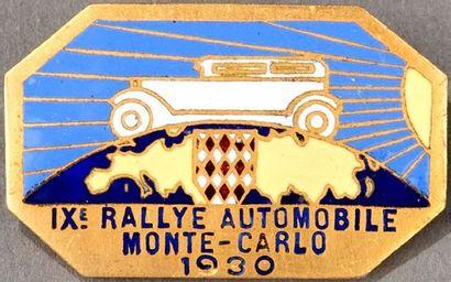 Epinglette 9ème Rallye Automobile Monte Carlo...