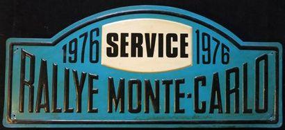 Plaque Rallye Monte Carlo 1976 Service