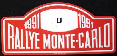 Plaque Rallye Monte Carlo 1991 Ouvreur du...