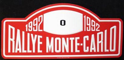 Plaque Rallye Monte Carlo 1992 Ouvreur du...