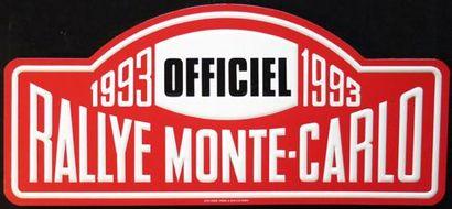 Plaque Rallye Monte Carlo 1993 Officiel N°...