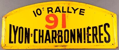 Plaque 10ème Rallye Lyon Charbonnieres 1957...