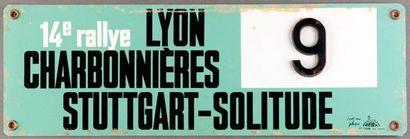 Plaque 14ème Rallye Lyon Charbonnieres 1961...