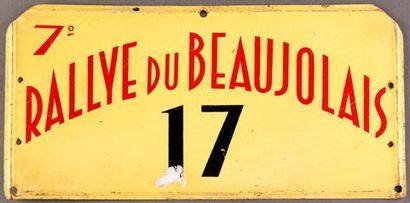 Plaque 7ème Rallye du Beaujolais Concurrent...