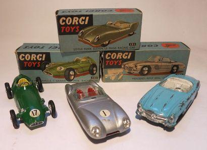 CORGI TOYS Ensemble de 3 voitures dans leur boîte comprenant une BRM F1 Grand Prix...