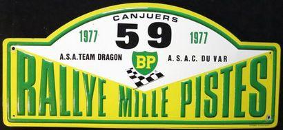 Plaque Rallye des Mille Pistes 1977