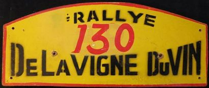 Plaque Rallye de la Vigne et du Vin 1951...