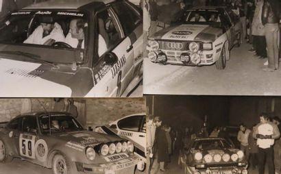 Ensemble de 9 photographies 4 du Rallye de...