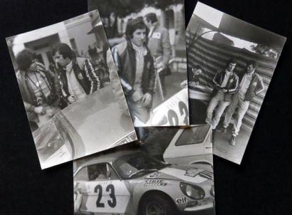 Ensemble de 4 photographies du Rallye de...