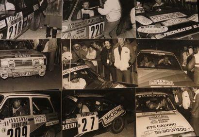 Ensemble de 14 photographies amateur Rallye...