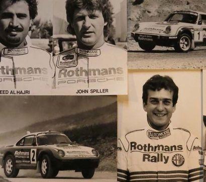 Ensemble de 5 photograpies Ecurie Porsche...