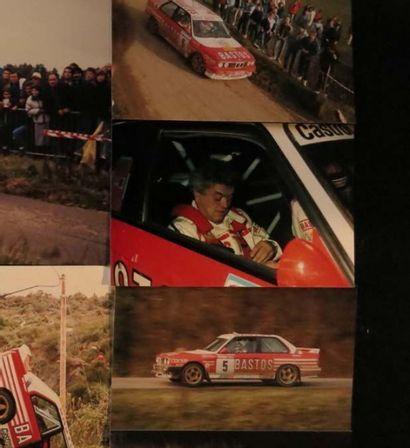 Ensemble de 11 photographies Rallye du Condroz...