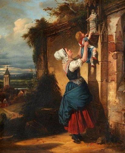 JB***Ecole FRANCAISE vers 1830