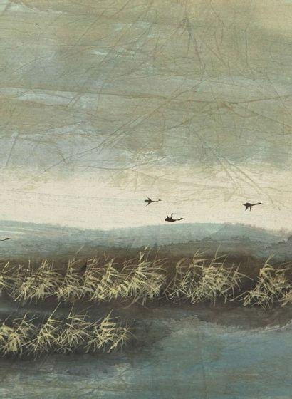 BO YUN (Li Yongcun) (né en 1948) Deux encres et couleurs sur papier montés en rouleaux,...