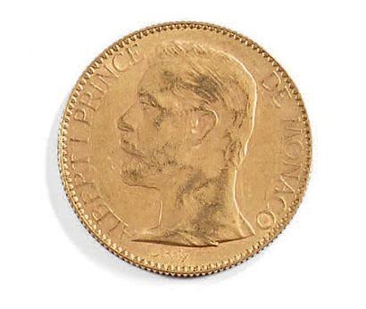 Une pièce de 100 fr or 1891 Albert 1er Prince de Monaco Poids: 32,3 g