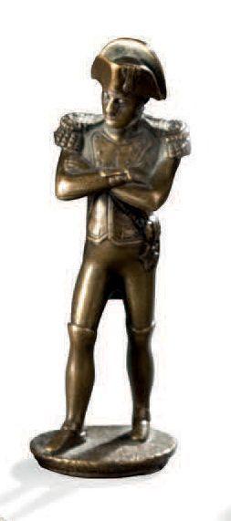 Sujet en bronze figurant Napoléon Haut.:...