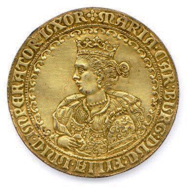 SAINT EMPIRE Médaille (prager judenmedaille) en plomb doré, non daté (16e siècle)...