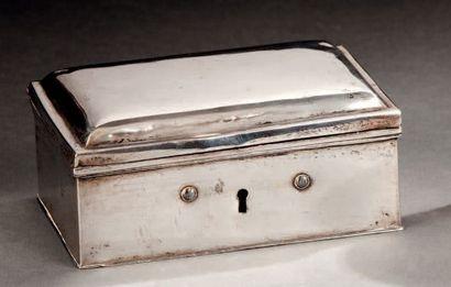 Boîte à clef rectangulaire en argent uni....