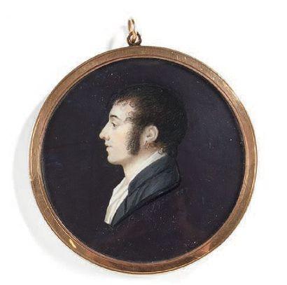 Charles-Guillaume-Alexandre Bourgeois (1759-1832) Portrait de jeune homme en buste...