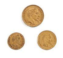 Ensemble de trois pièces en or comprenant:...