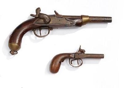Un pistolet de cavalerie réglementaire belge,...