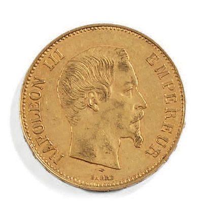 Une pièce de 100 fr Napoléon III 1857. Poids:...