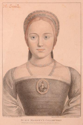 Gravure anglaise d'après un portrait de Hans...