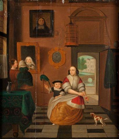Ecole hollandaise du XIXème siècle, dans le goût de Pieter de HOOCH